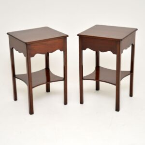 Pair of Antique Mahogany Side / Bedside Tables
