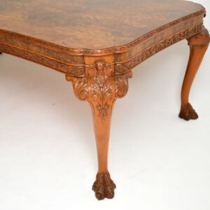 antique walnut queen anne dining table and chairs
