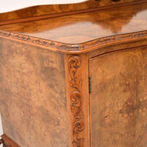 antique queen anne burr walnut sideboard