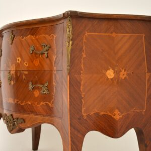 Antique French Inlaid Marquetry Bombe Chest