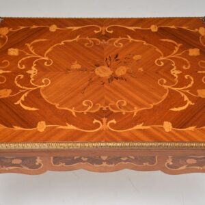 antique french inlaid marquetry card table