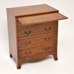 antique inlaid mahogany bachelors chest of drawers