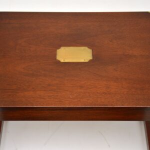 antique mahogany military campaign style nest of tables