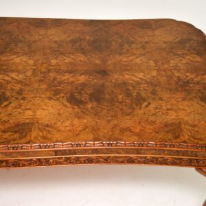 antique burr walnut queen anne dining suite table chairs