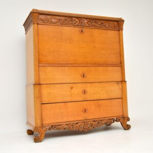 antique swedish oak secretaire bureau