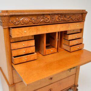antique swedish oak secretaire bureau