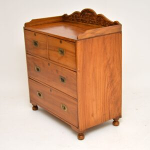 antique colonial campaign chest of drawers camphor wood