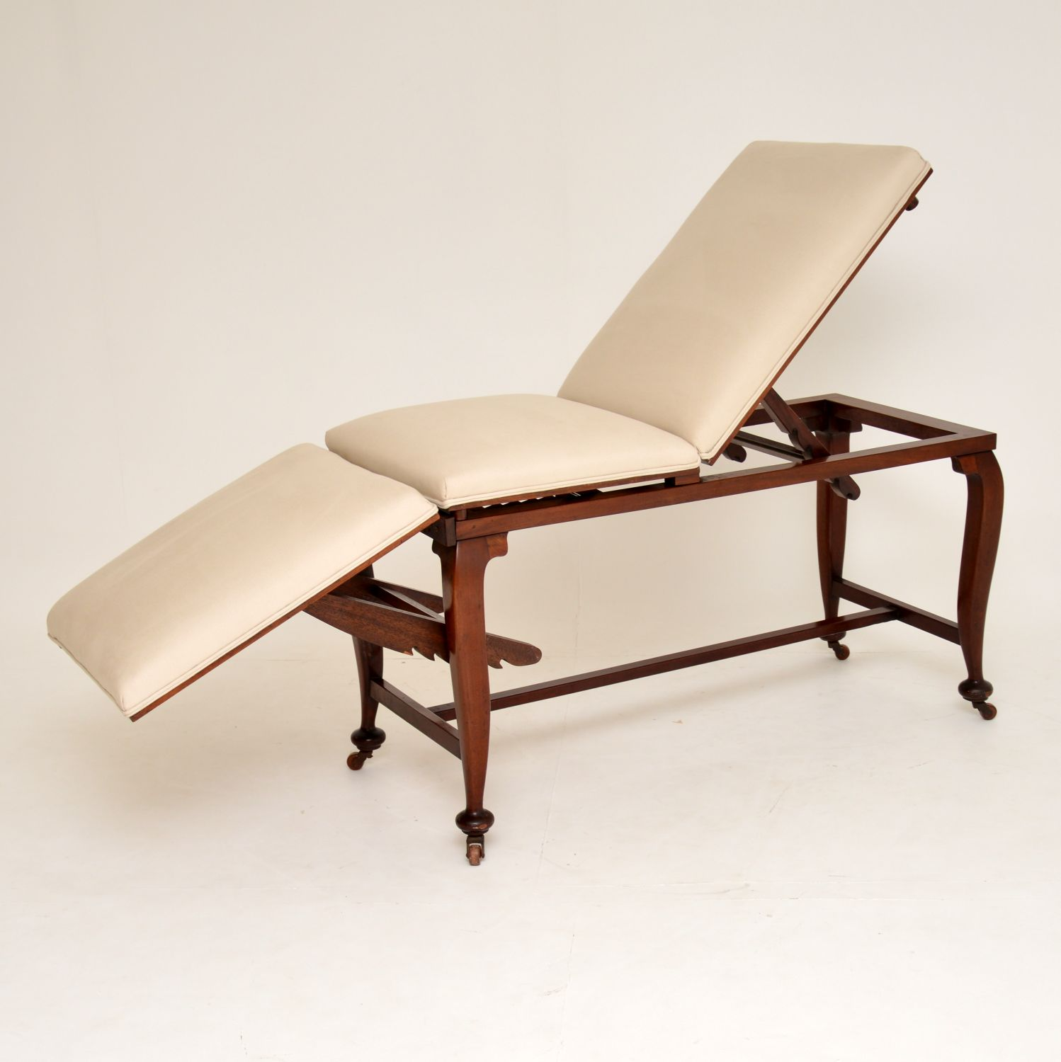 antique victorian mahogany chaise longue doctors massage bed