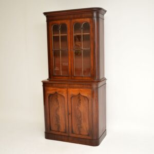 antique victorian mahogany library bookcase