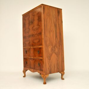 Antique Burr & Figured Walnut Tallboy