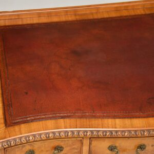 antique walnut leather top desk writing table