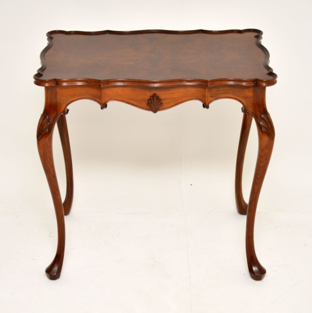 antique walnut pie crust side table