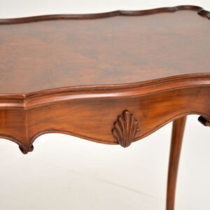 antique walnut pie crust side table