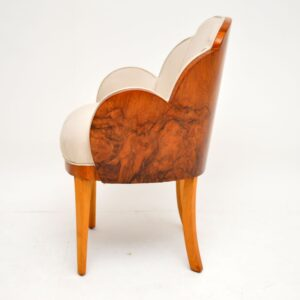 Set of 8 Art Deco Walnut Cloud Back Dining Chairs by Epstein