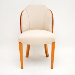 art deco burr walnut cloud back dining chairs by epstein