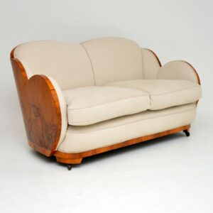 art deco walnut cloub back sofa by epstein