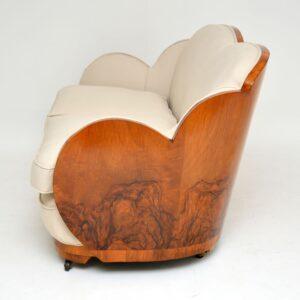 Art Deco Walnut Cloud Back Sofa by Epstein