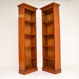 Pair of Antique Victorian Satin Wood Bookcases