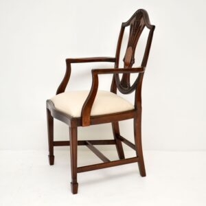Set of 12 Antique Mahogany Shield Back Dining Chairs