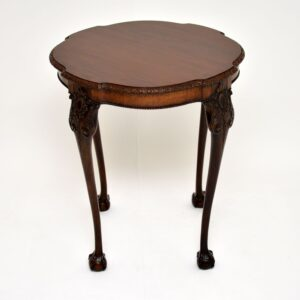 antique edwardian carved mahogany occasional side table
