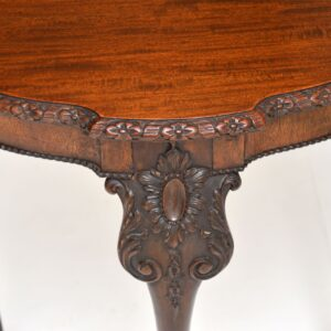 Antique Chippendale Style Carved Mahogany Occasional Table