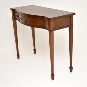antique inlaid mahogany server console side table