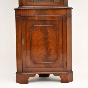 antique georgian style mahogany corner cabinet