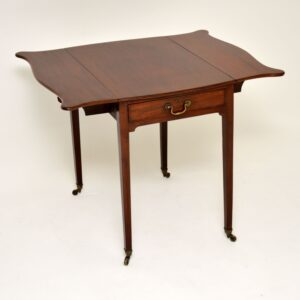 antique georgian mahogany drop leaf pembroke table