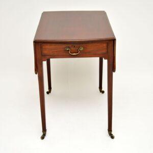 antique georgian mahogany drop leaf pembroke table