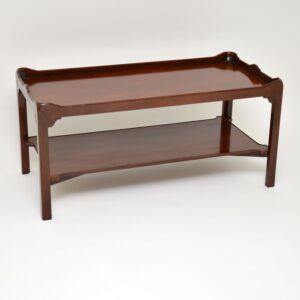 antique mahogany two tier coffee table