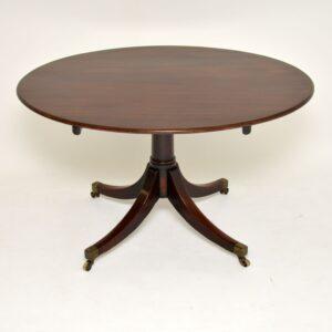 antique mahogany georgian regency dining centre tilt top table