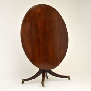antique mahogany georgian regency dining centre tilt top table