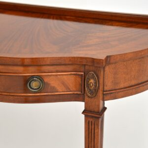 antique mahogany console hall side table