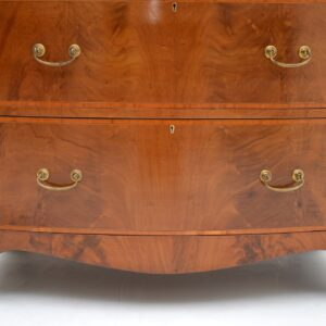 Large Antique Inlaid Mahogany Sheraton Style Chest of Drawers