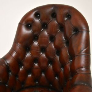 antique leather swivel desk chair
