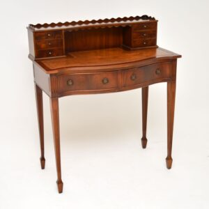 antique mahogany leather desk writing table bonheur du jour