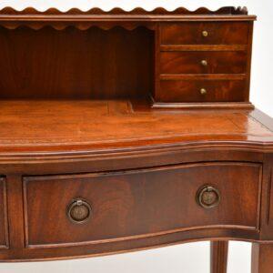 antique mahogany leather desk writing table bonheur du jour