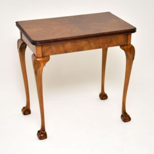 antique queen anne walnut card table
