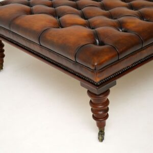 antique leather stool ottoman coffee table