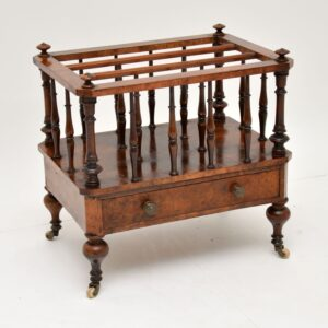 antique victorian walnut canterbury magazine rack