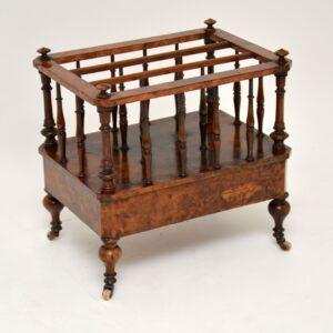antique victorian walnut canterbury magazine rack