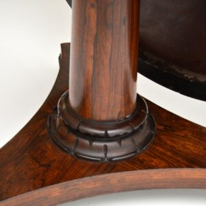 antique william iv fourth rosewood leather breakfast dining centre table