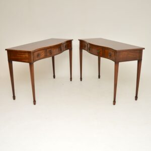 Pair of Antique Sheraton Style Console Tables