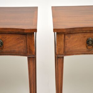 pair of antique georgian style mahogany server console tables