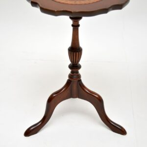 Pair of Antique Georgian Style Mahogany Leather Top Wine Tables