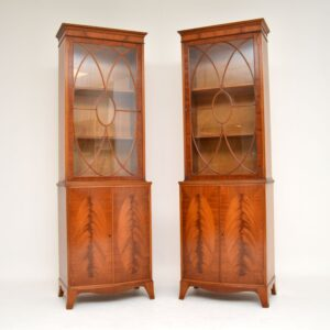 pair of antique mahogany bookcase bookcases waring and gillows
