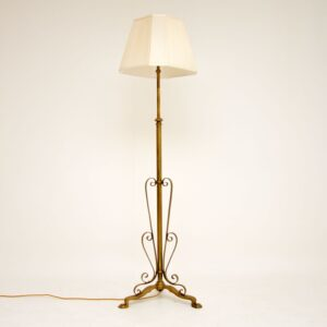 antique vintage brass floor lamp