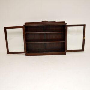 antique mahogany edwardian bookcase