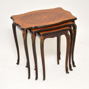 antique french inlaid marquetry nest of tables