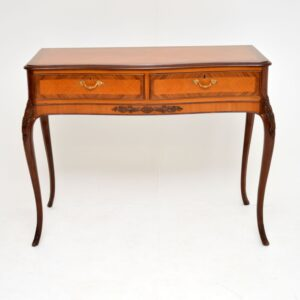 Antique French Style Inlaid Rosewood Console Table